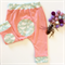 """Organic Cotton """"Bug Patch"""" baby pants in Pink and Mint"""